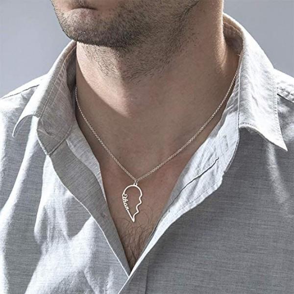 Couple Broken Heart Necklace