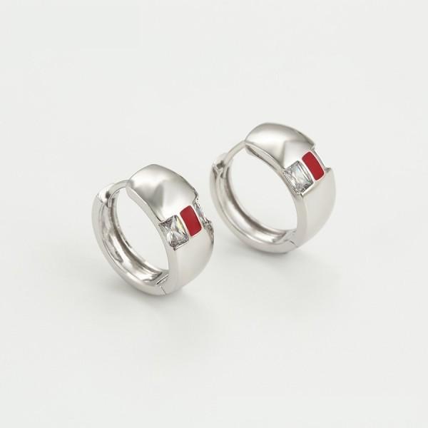 Rhodium Plated Ring & Earrings Set