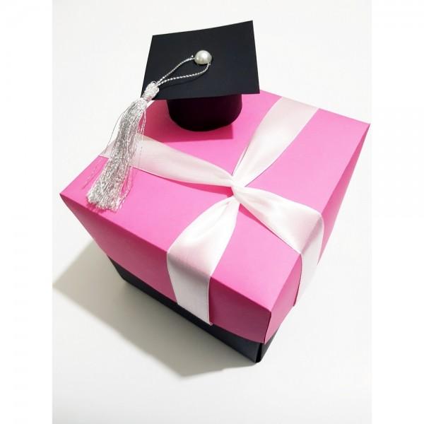 Graduation Cap Gift Box - Pink
