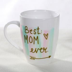 Best Mom Hand-Painted Mug