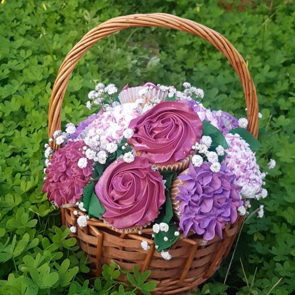 Cupcakes Basket - Purple