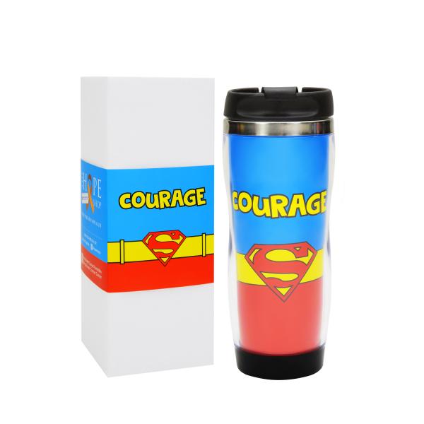 """Wonder Woman """"Hope"""" Travel Mug"""