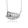 Swarovski Encrusted Heart Leaf Necklace
