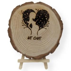 Engraved Pregnant Tree Slice