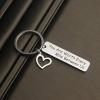 Bar with Heart Keychain