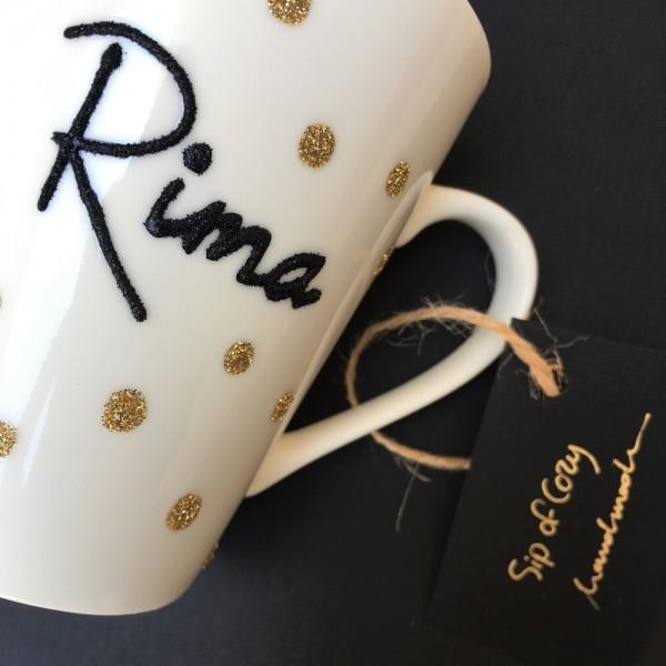 Polka Dot Hand-Painted Mug