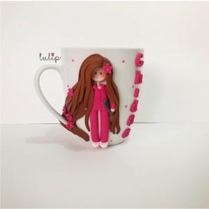 Casual Girl Mug - Pink