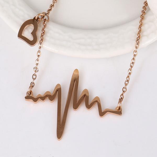 Heart Beat Love Cardiogram Necklace
