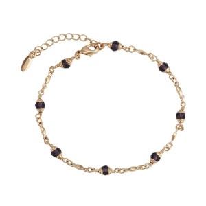 Gold Plated Violet Bracelet