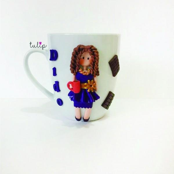 Chocolate & Coffee Girl Mug