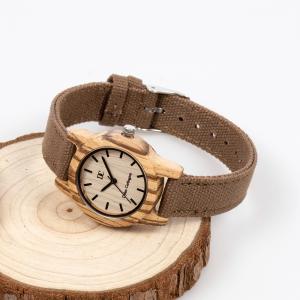 Ladies' Natural Wood Watches - Beige & Brown