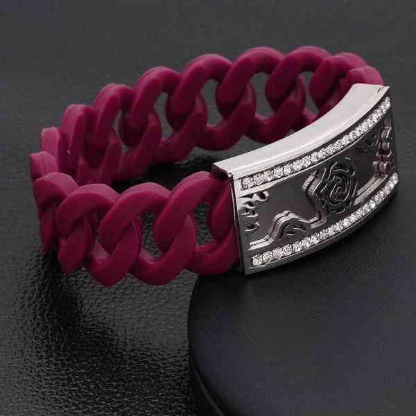 Stretchable Chain Bangle-Purple