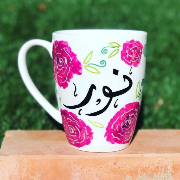 Rosy Name Hand-Painted Mug
