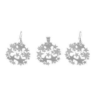 Stars Necklace & Earrings Set
