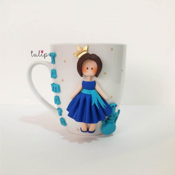 Hookah Girl Mug - Blue