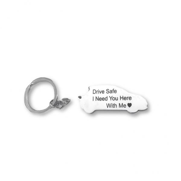 Car Keychain - 100% Silver