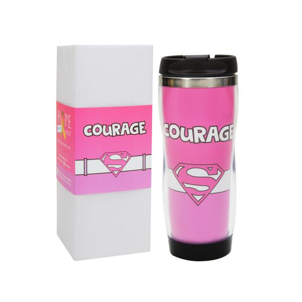 "Superwoman ""Courage"" Travel Mug"