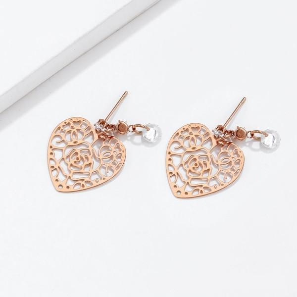 Gold Plated Heart Earrings