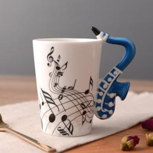 Saxophone Mug - Blue