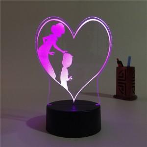 """3D """"I Love You, Mom"""" Light"""