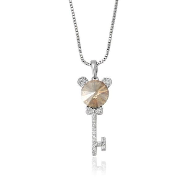 Swarovski Encrusted Key Necklace