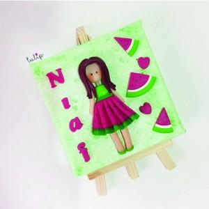 Melon Fruit Girl Canvas Art