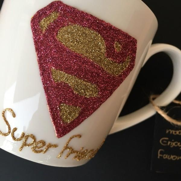 Superman Hand-Painted Mug