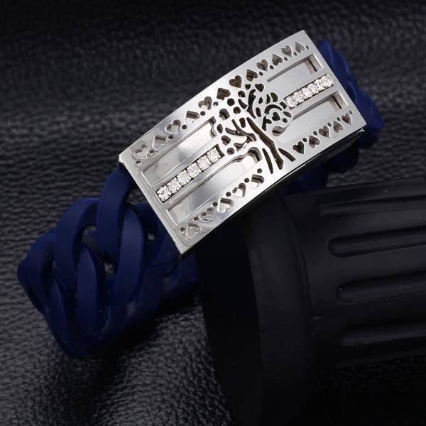 Stretchable Chain Bangle-Navy