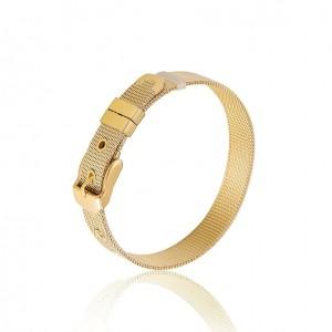Stainless Steel Mesh Belt Bracelet - Gold