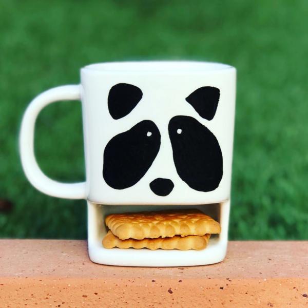 Biscuit Pocket Hand-Painted Mug - Panda