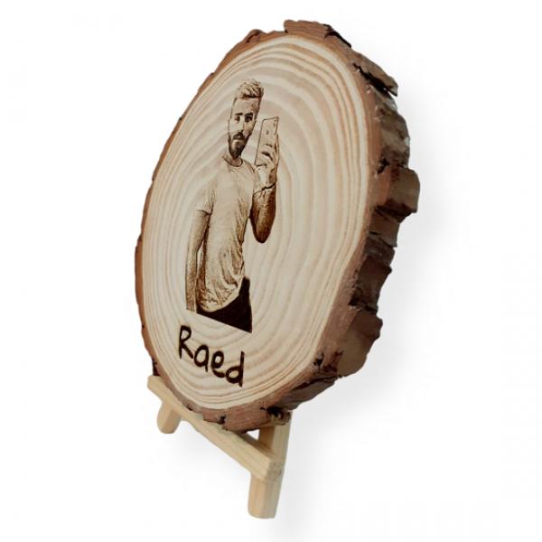 Photo Engraved Tree Slice