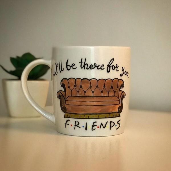 Friends Hand-Painted Mug