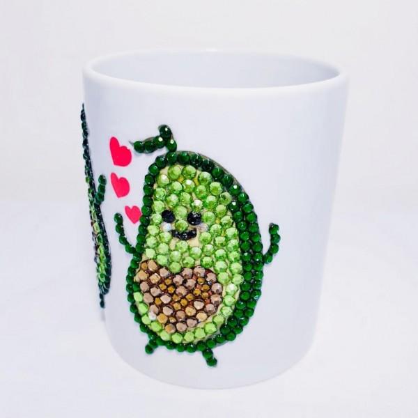 Crystals Encrusted Mug - Lovely Avocado