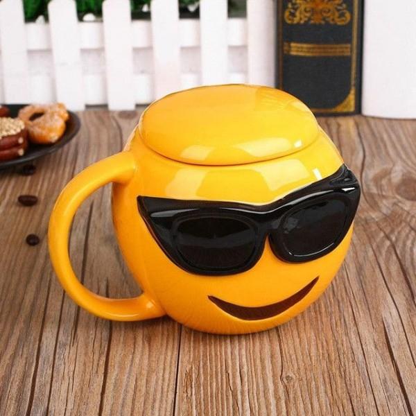 Sunglasses Emoji 3D Mug
