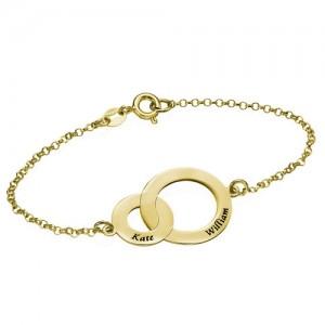 Gold Plated Nested Rings Bracelet