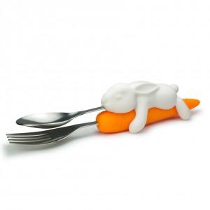 NACK RABBIT Bunny & Carrot Nesting Utensils