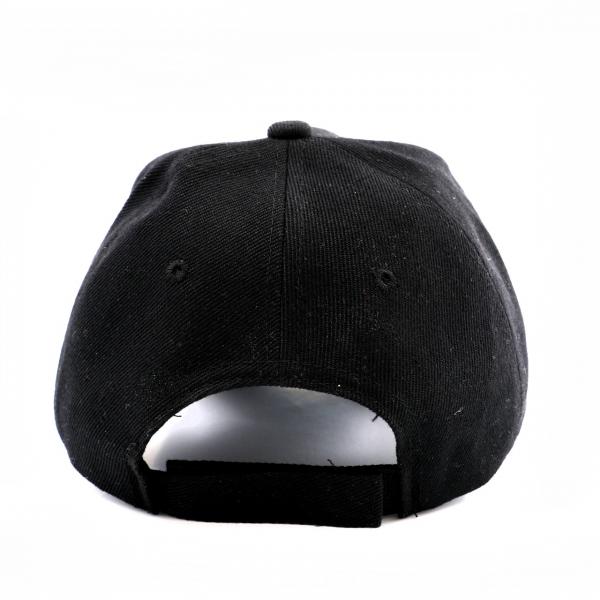 Customizable Hand-Painted Cap - Black