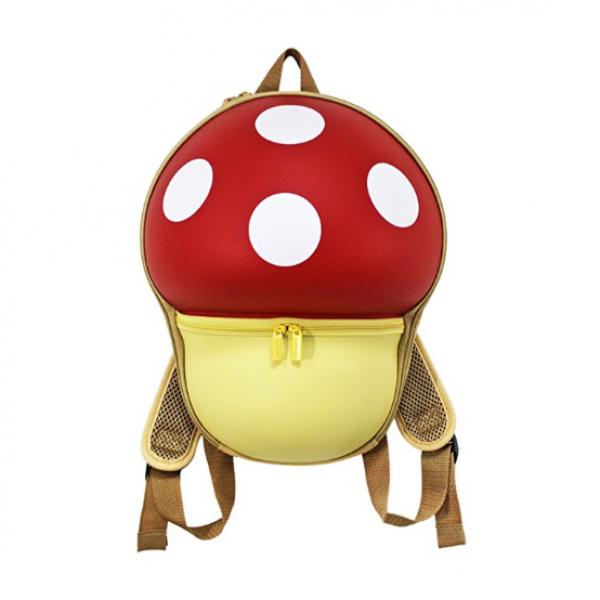 Mushroom Backbag for Kids-Red