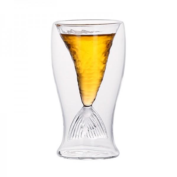 Mermaid Glass Cup-Transperant