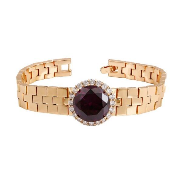 Stone Crystal Bracelet-Purple